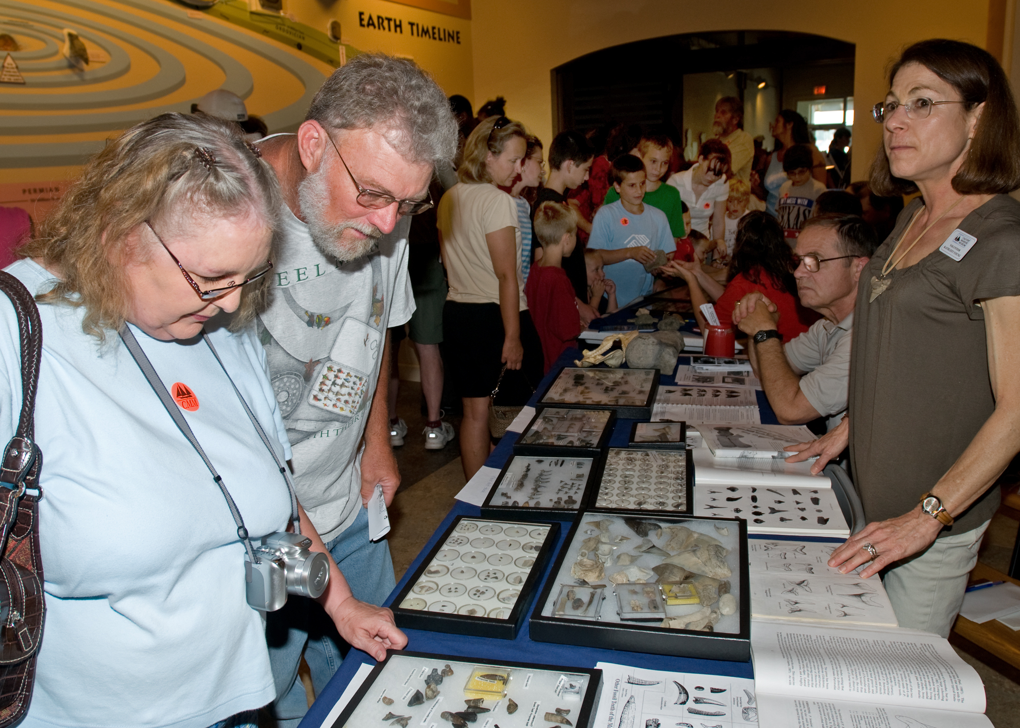 Fossil Club Displays at Patuxent River Appreciation Days
